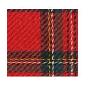 MR 00010830 ROYAL STEWART Scarlet Green Multi Old World Weavers Fabric