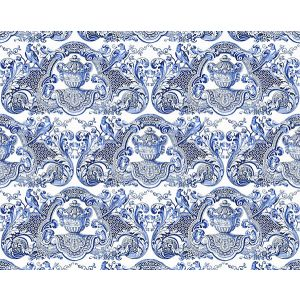 N4 0001WMMY WILLIAM AND MARY Blue Scalamandre Fabric