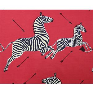 16496M-001 ZEBRAS SC Masai Red Scalamandre Fabric