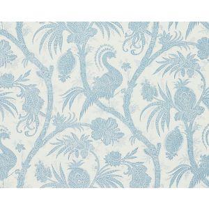 16575-001 BALINESE PEACOCK Sky Scalamandre Fabric