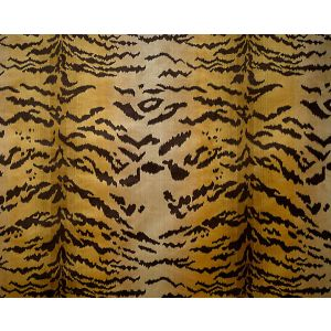 26167MM-001 TIGRE Ivory Gold Black Scalamandre Fabric