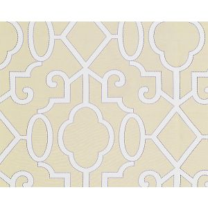 27012-001 MING FRETWORK Alabaster Scalamandre Fabric
