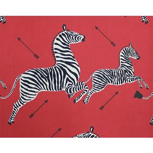 36378-001 ZEBRAS Masai Red Scalamandre Fabric