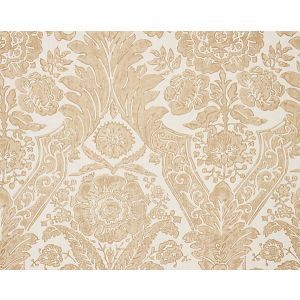 SC 0001WP88354 LUCIANA DAMASK PRINT Sand Scalamandre Wallpaper
