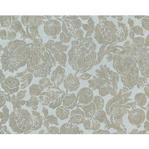 16606-002 ELSA LINEN PRINT Silver On Skylight Scalamandre Fabric