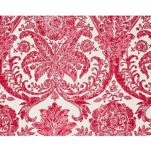 SC 0002WP88354 LUCIANA DAMASK PRINT Raspberry Scalamandre Wallpaper