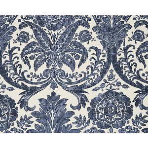SC 0003WP88354 LUCIANA DAMASK PRINT Denim Scalamandre Wallpaper