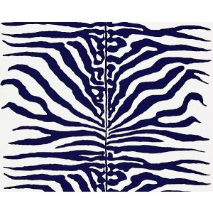 16366M-004 ZEBRA Navy Scalamandre Fabric