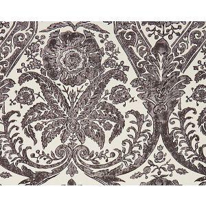 16557-004 LUCIANA DAMASK PRINT Graphite Scalamandre Fabric