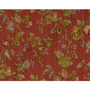 26847-004 FLEUR DES INDES Multi On Coral Scalamandre Fabric