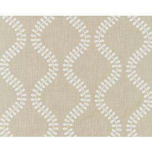 27127-004 FOGLIA EMBROIDERY Flax Scalamandre Fabric
