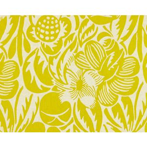 27131-004 DECO FLOWER Chartreuse Scalamandre Fabric