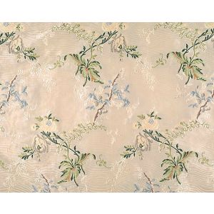 96100M-004 BROCART DE LYON Multicolor On Ivory Scalamandre Fabric