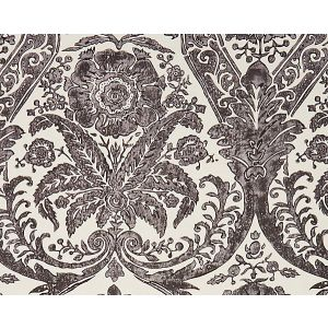 SC 0004WP88354 LUCIANA DAMASK PRINT Graphite Scalamandre Wallpaper