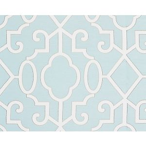 SC 0004WP88356 MING FRETWORK Aquamarine Scalamandre Wallpaper