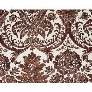 SC 0005WP88354 LUCIANA DAMASK PRINT Espresso Scalamandre Wallpaper