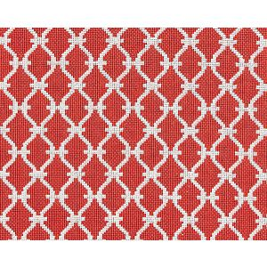 27009-006 TRELLIS WEAVE Poppy Scalamandre Fabric