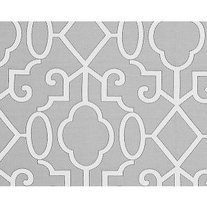 SC 0006WP88356 MING FRETWORK Silver Scalamandre Wallpaper