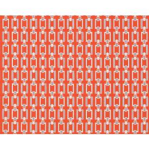 SU 5301SQUA SQUARE LINKS Caribbean Coral Old World Weavers Fabric