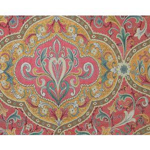 TV 00031839 TIBERIO Red Yellow Turquoise Old World Weavers Fabric