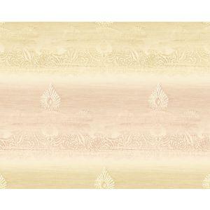 WMA MF010411 OASIS Gold Pink Scalamandre Wallpaper