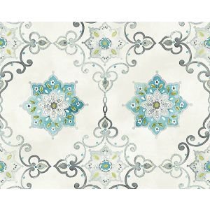 WMA MF020813 ISOLDE Blue Silver Scalamandre Wallpaper