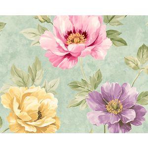 WMA MF040600 KINSLEY Turquuoise Scalamandre Wallpaper