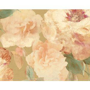 WMA MF050416 PAPER ROSE Gold Scalamandre Wallpaper