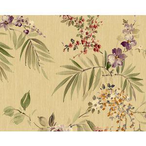 WMA MF050609 PROVIDENCE Gold Purple Scalamandre Wallpaper