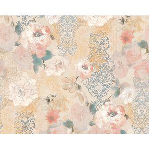 WMA MF060421 PAPER ROSE MURAL Linen Scalamandre Wallpaper