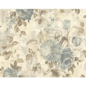 WMA MF060506 SASHA Gold Blue Scalamandre Wallpaper