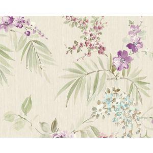 WMA MF090609 PROVIDENCE Violet Blue Scalamandre Wallpaper