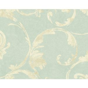 WMA MF090703 SEAPOWET Turquoise Scalamandre Wallpaper