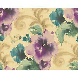 WMA MF090810 MARILYN Purple Gold Scalamandre Wallpaper