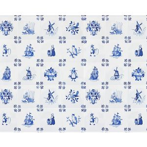 WNM 0001TILE TILE PLAY Blue Scalamandre Wallpaper