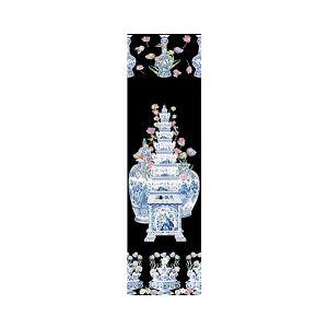 WNM 0002TULI TULIPIERE FLOWERS Black Scalamandre Wallpaper