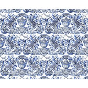 WNM 0002WMMY WILLIAM & MARY Blue Scalamandre Wallpaper