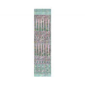 WNM 1022TOPK TOPKAPI GARDEN Green Pink Scalamandre Wallpaper