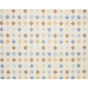 WR 00022456 BREEZEWAY FH Blue Multi/Pearl Old World Weavers Fabric