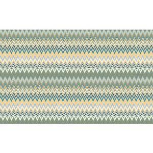 WRK 0064ZIZA ZIG ZAG MULTICOLORE PANEL Teal Gold Missoni Home Wallpaper