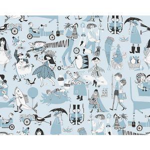 WSB 00160598 VARA VISOR Light Blue Sandberg Wallpaper