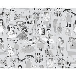 WSB 00310598 VARA VISOR Grey Sandberg Wallpaper