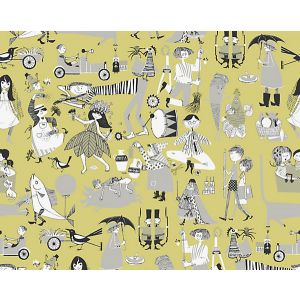 WSB 00420598 VARA VISOR Yellow Sandberg Wallpaper
