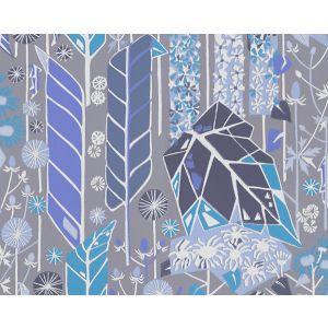 WSB 00660421 SENECIO Blue Sandberg Wallpaper