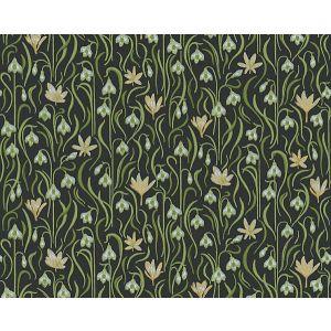 WSB 00910403 SIGNE Black Green Yellow Sandberg Wallpaper