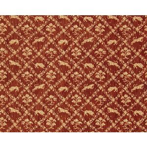 Y0 0001V742 SANTINI Red Old World Weavers Fabric