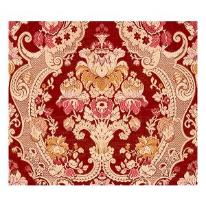 ZA 00032558 MAGNIFIC Red Old World Weavers Fabric
