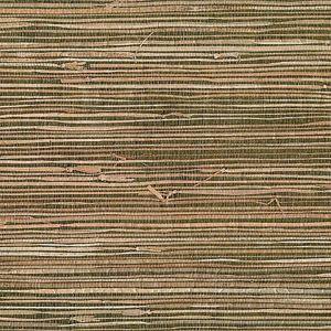 53-65616 Mai Grasscloth Khaki Brewster Wallpaper