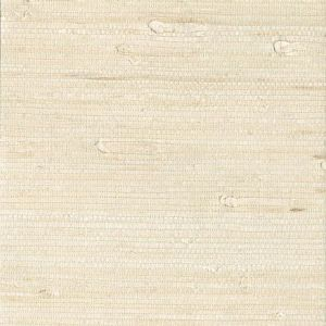 53-65651 Ran Grasscloth White Brewster Wallpaper