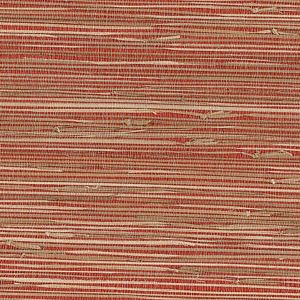 53-65661 Rio Grasscloth Brick Brewster Wallpaper